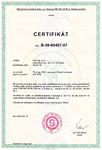 Сертификат на Националния здравен институт на Чехия